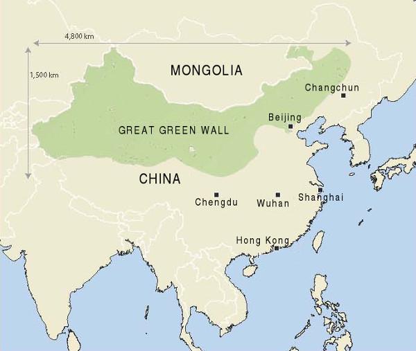 Chinesische Mauer Karte.Neue Solidarität 37 2018 Chinas Grüne Mauer